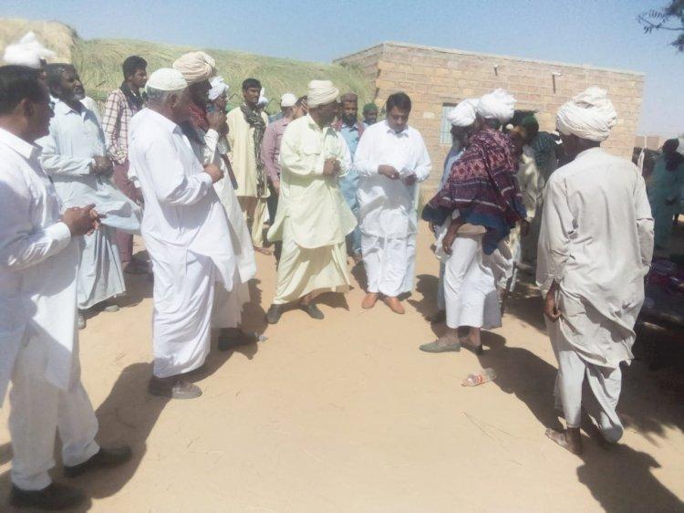 जैसलमेर के गांवों में जनता के बीच पहुंचे अल्पसंख्यक मामलात मंत्री मोहम्मद