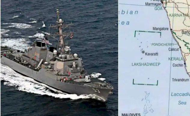 अमेरिकी नौसेना ने भारत की अनुमति बिना लक्षद्वीप के नजदीक किया ऑपरेशंस