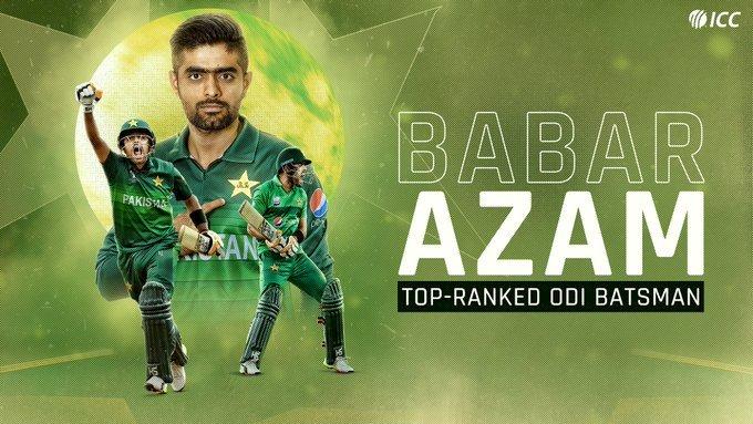 आईसीसी वन डे रैंकिंग में पहले पायदान पर पहुंचे पाकिस्तान के कप्तान बाबर
