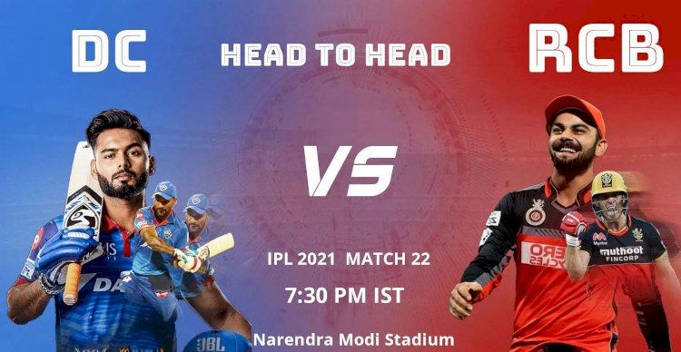 आईपीएल में दिल्ली कैपिटल्स का मुकाबला बेंगलूरु से आज
