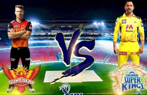 आईपीएल 2021 में चेन्नई सुपर किंग्स का मुकाबला सनराइजर्स हैदराबाद से